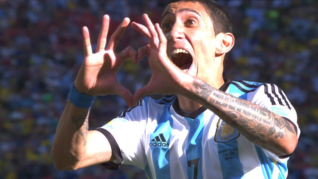 Angel Di Maria scores late winner for Argentina