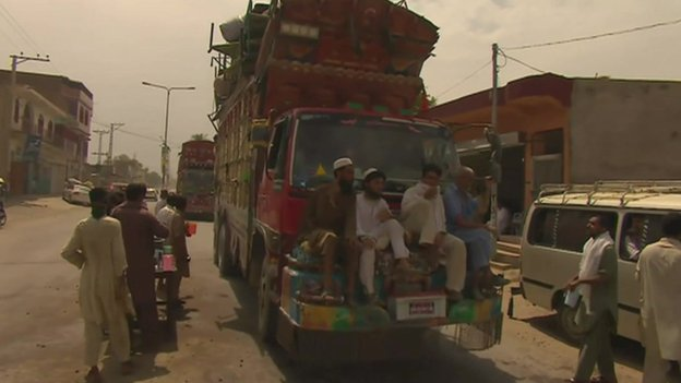 Villagers' exodus from the area due to air strikes