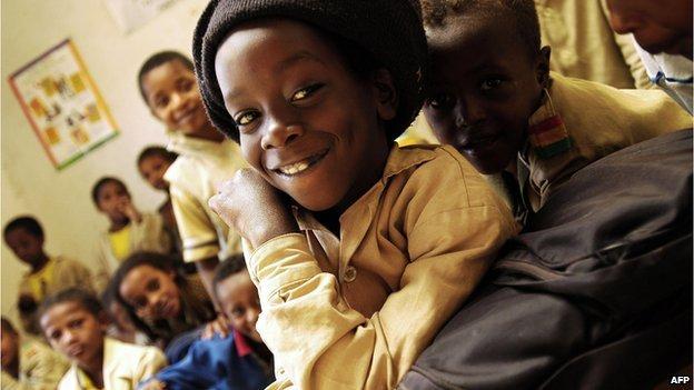 Rastafarian children in Shashamane