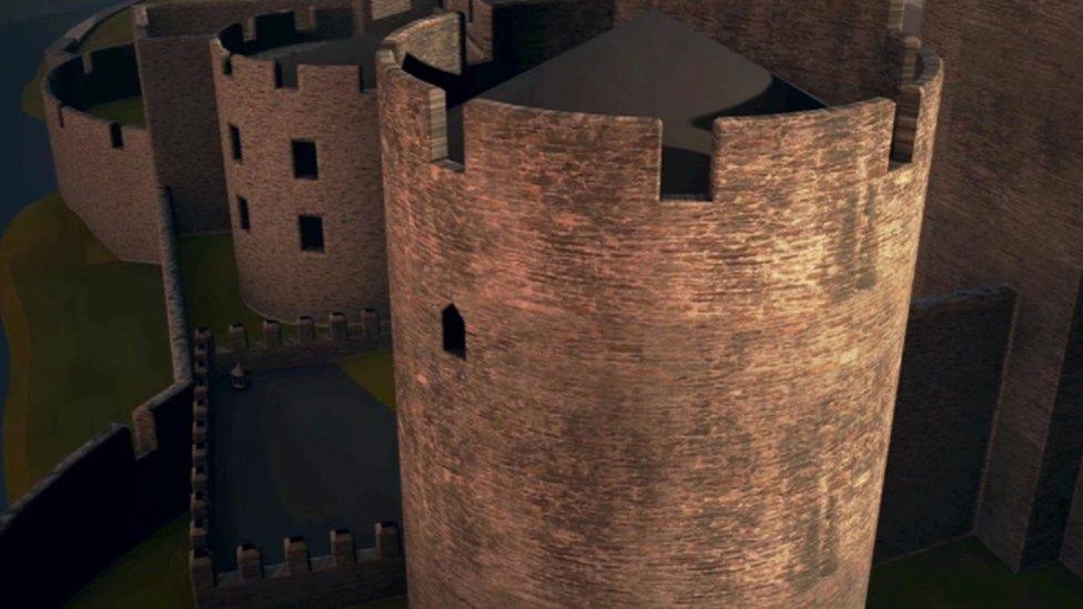 Delwedd Castell Caerffili