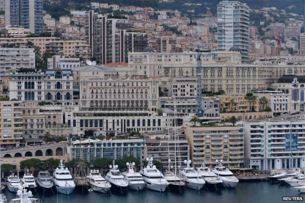 The seafront in Monaco - 24 June 2014