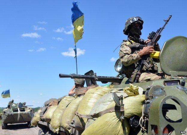 Ukrainian troops in Donetsk region, 3 July