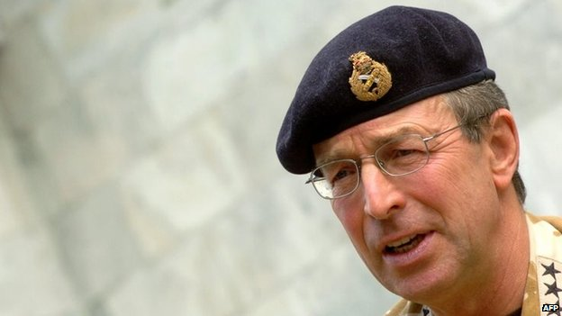 General Sir David Richards pictured in 2006 in Afghanistan
