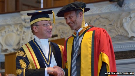 Ryan Giggs,Doctor of Science for Outstanding Contribution to Sport