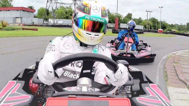 British Grand Prix: Hamilton goes back to his karting roots
