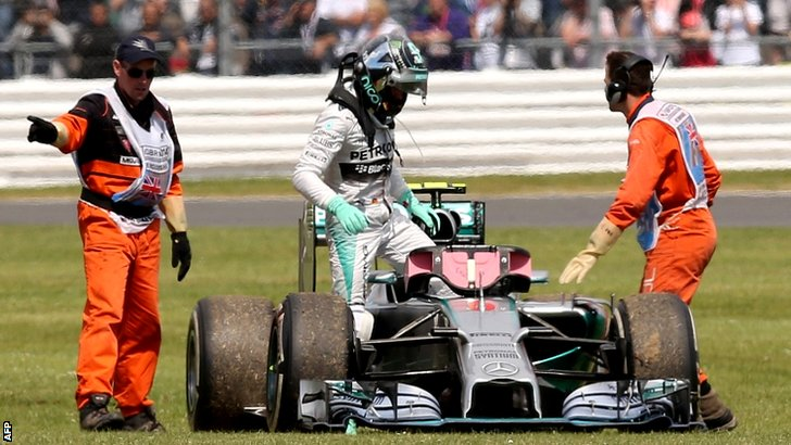 The race ends for Nico Rosberg