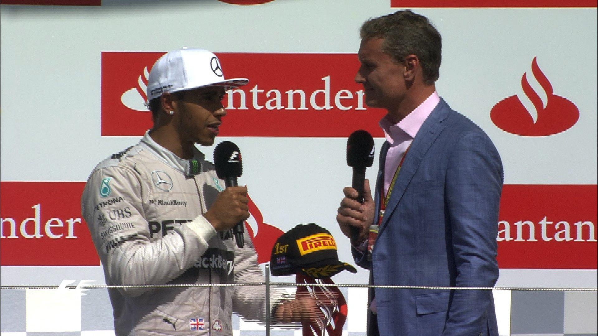 Lewis Hamilton talks to David Coulthard