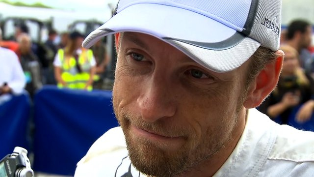 Mclaren's Jenson Button is content with his fourth place at Silverstone.