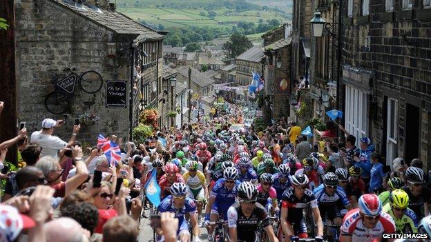 Tour de France in Haworth