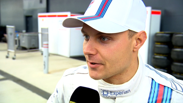 Williams' Valtteri Bottas is delighted with his second place at the British Grand Prix