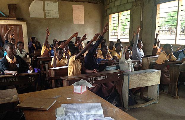 Ghana school class