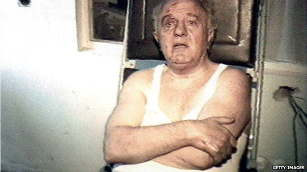 Eduard Shevardnadze covered in cuts and bruises after escaping an apparent assassination attempt - 29 August 1995