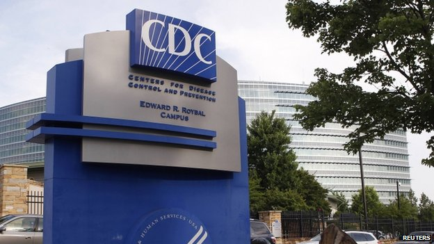 The Centers for Disease Control sign is seen at its main facility in Atlanta, Georgia, on 20 June 2014