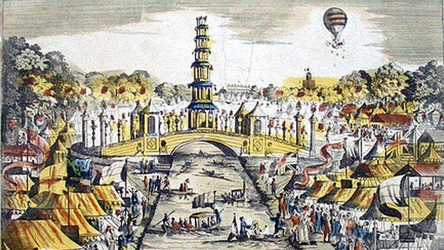 1814 jubilee celebrations in London on 1 August