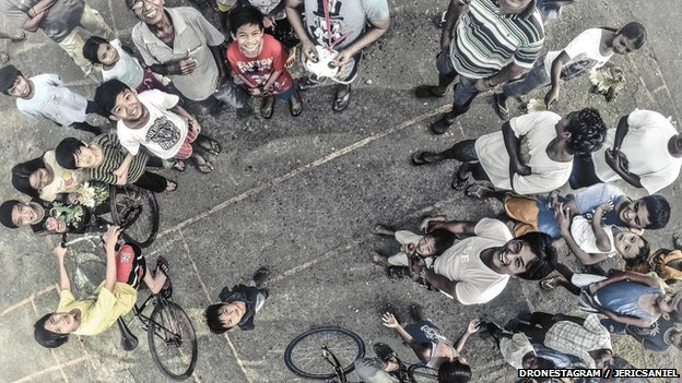 Manila people shot from drone photography competition