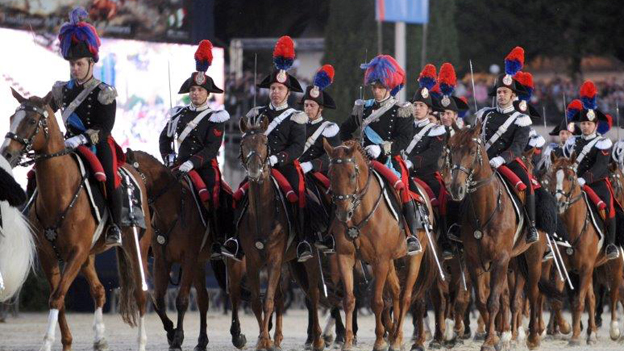 Carabinieri on parade