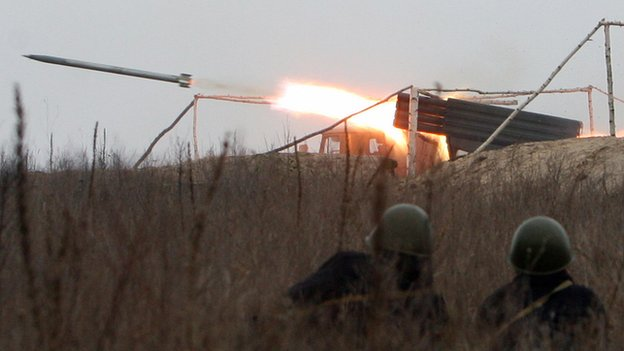 Grad rockets in Ukraine - file pic