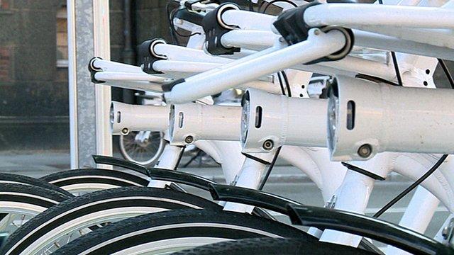 A 'smart' electric bicycle in Copenhagen