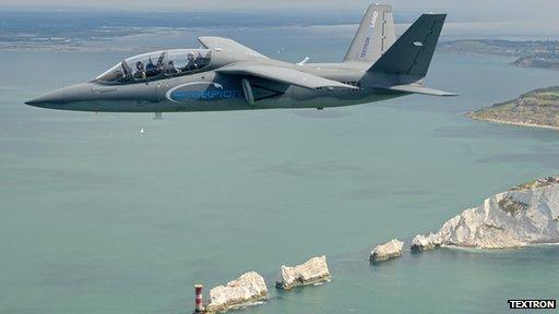 Scopion flies over Isle of Wight