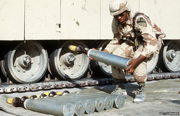Armour-piercing sabots used in the 1990-91 Gulf War
