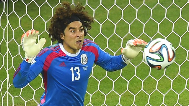 Mexico's goalkeeper Guillermo Ochoa was one of the standout performers at the 2014 World Cup