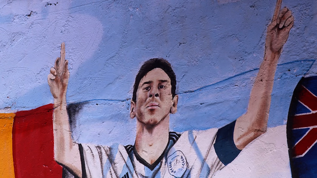 Argentina's Lionel Messi in graffiti form features in our tournament review