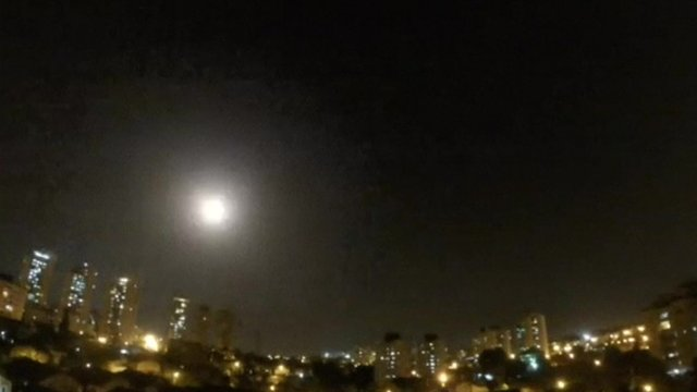 An explosion over Israel