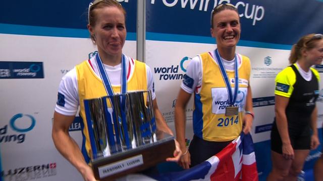 Great Britain's Helen Glover and Heather Stanning