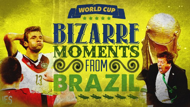 Bizarre moments of the 2014 World Cup