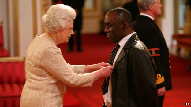 The Queen and Alex Wheatle