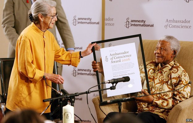 Nadine Gordimer and Nelson Mandela