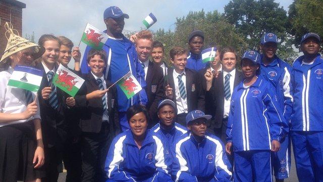 Lesotho's Games team enjoy Wrexham's hospitality