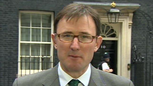 James Landale in Downing Street