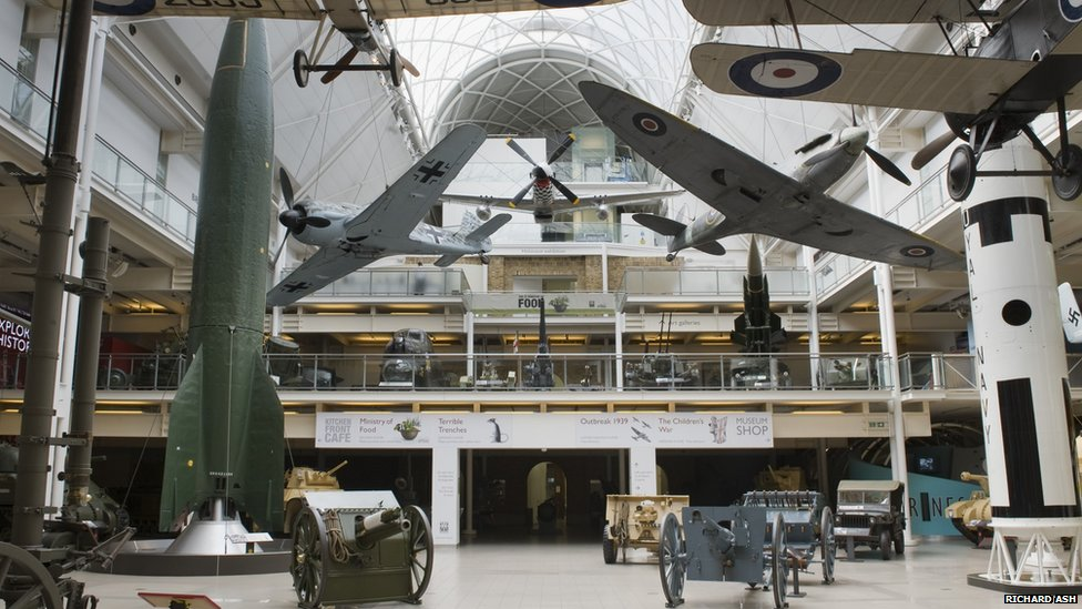 Imperial War Museum London atrium before the refurbishment