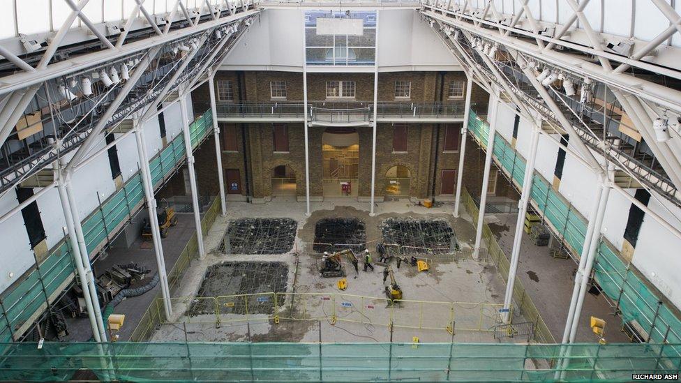 Imperial War Museum London atrium during the refurbishment