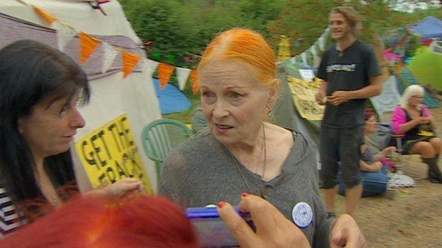 Vivienne Westwood at fracking protest