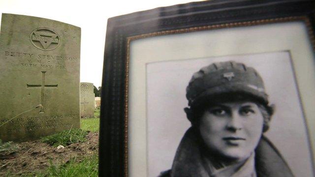 Graveyard and photograph