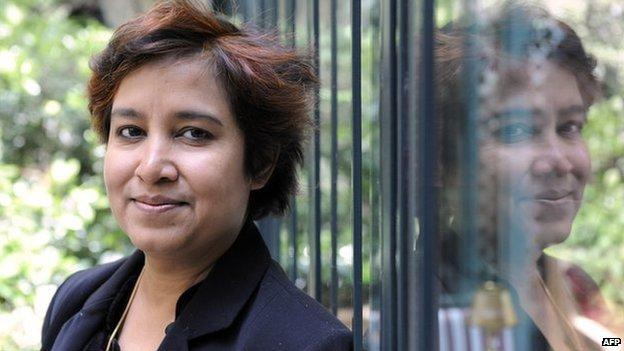 Taslima Nasreen in Paris, 2008
