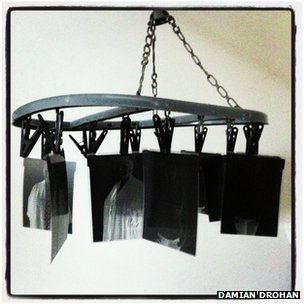 Negatives hanging to dry