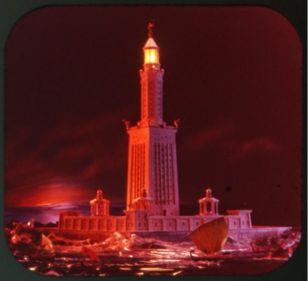 Slide photo of the Lighthouse of Alexandria
