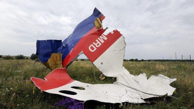 Wreckage of Flight MH17