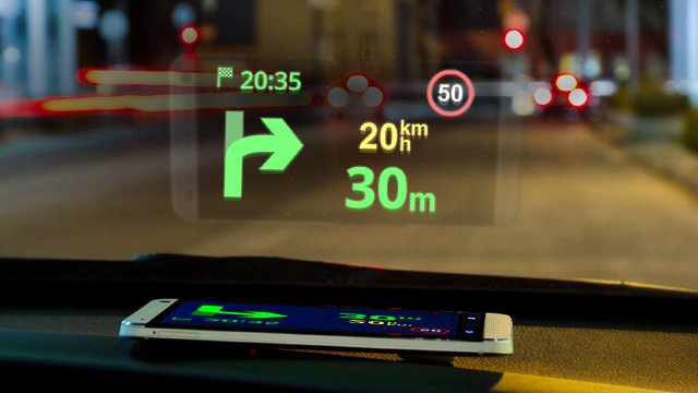 Sygic's new head-up display
