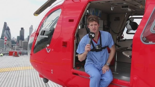 Dr Tom Konig gives a tour of an air ambulance