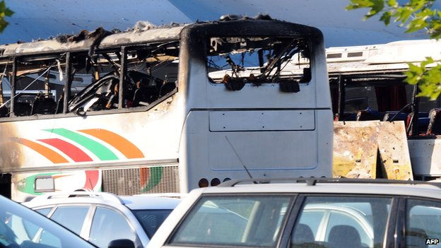 Bus blown up in Burgas, July 2012