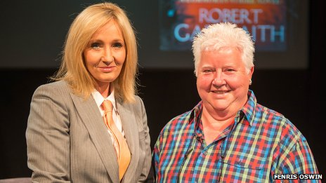 JK Rowling and Val McDermid