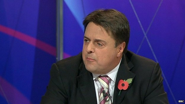 Nick Griffin appearing on the BBC's Question Time in 2009