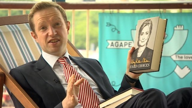 Reporter Adam Fleming with book