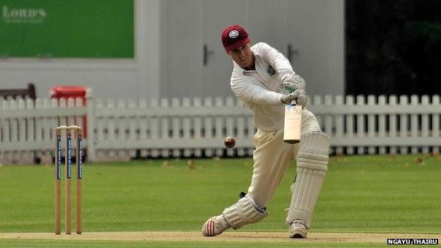 Former England batsman Ed Smith playing for Authors XI