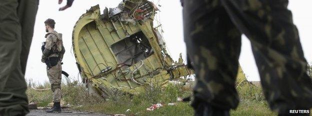 Crash site in Ukraine