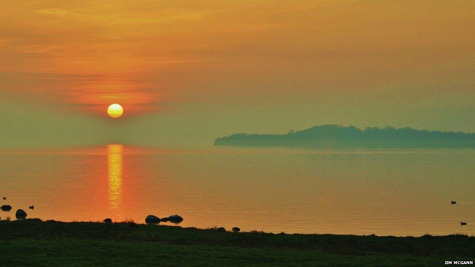 Sunset over Lough Neagh